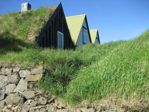 Moss houses at Árbæjarsafn / Mooshütten im Árbæjarsafn