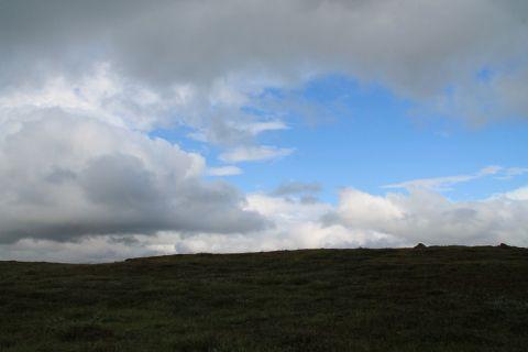 Sky over meadows