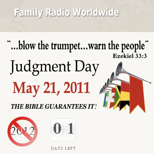 Family Radio website on 20th of May 2011